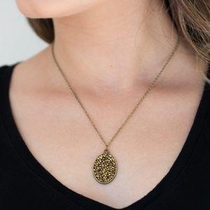 Brass necklace/earrings paparazzi